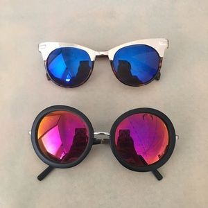 Accessories - Color Mirrored Sunglasses 2 pairs